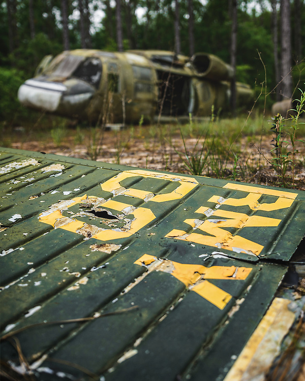 One of three known  experimental Boeing Vertol YUH-61A Model 179  aircraft derelict and forgotten