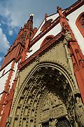 Würzburg..Marienkapelle am Markt, gotisches Portal....