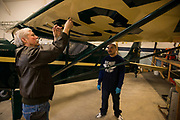 Tim Talen founder of Ragwod Refactory installs a Pitot Tube on an Interstate Cadet.