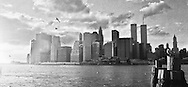 One of my favorite photos of Manhattan, taken from the the Brooklyn Promenade, when the Twin Towers were still there.