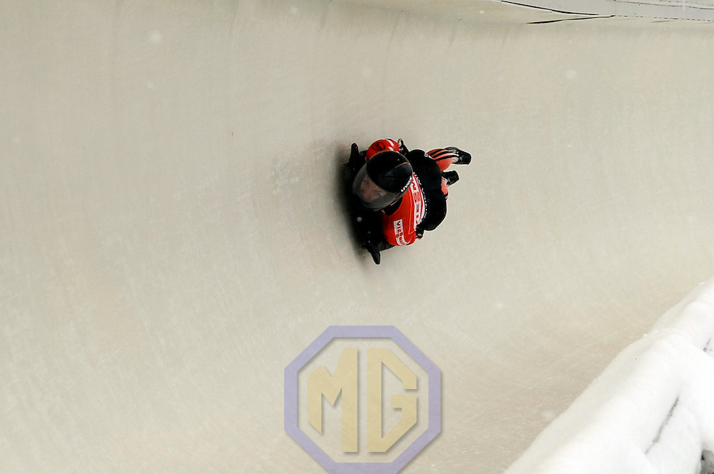 14 December 2007:  Meliss Hollingsworth of Canada competes at the FIBT World Cup Women's skeleton competition on December 14, 2007 at the Olympic Sports Complex in Lake Placid, NY.  Holingsworth finished in fourth place in the race which was won by Katie Uhlander of the United States.