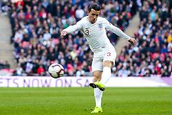 Ben Chilwell of England shoots at goal - Mandatory by-line: Robbie Stephenson/JMP - 18/11/2018 - FOOTBALL - Wembley Stadium - London, United Kingdom - England v Croatia - UEFA Nations League