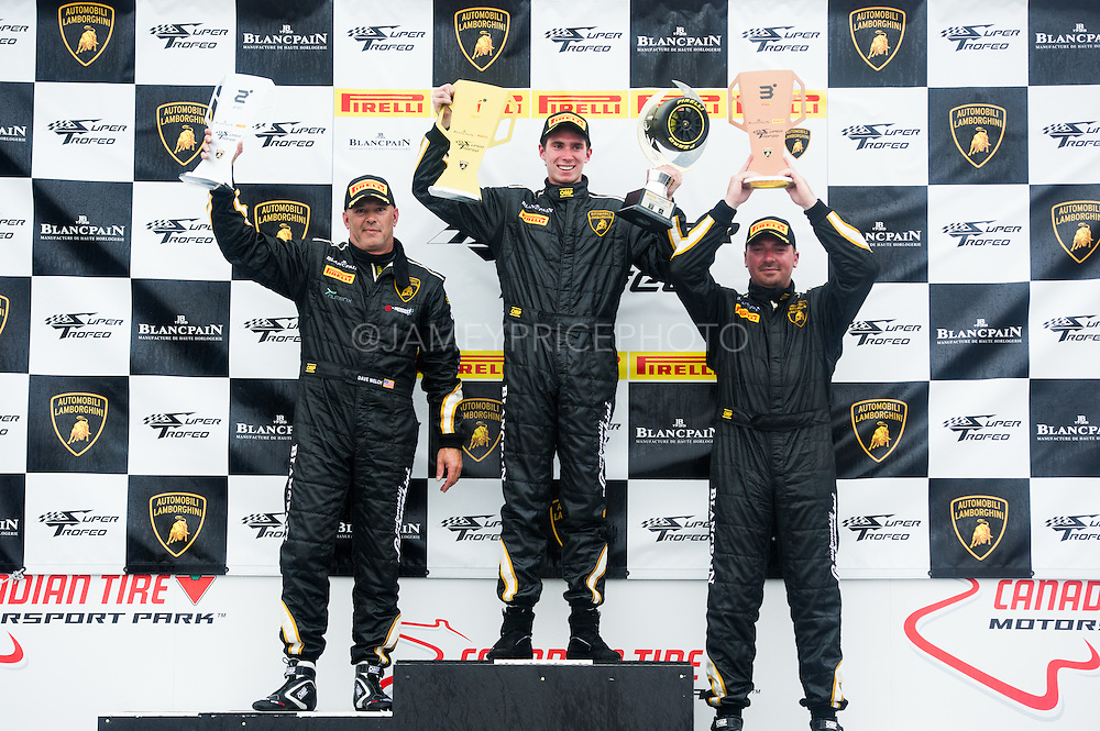 July 10-13, 2014: Canadian Tire Motorsport Park. Podium for round 8 at Mosport