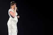 Musical Classics 2012 in Ahoy, een feestelijk gala, waarbij de muziek van de musical centraal staat.<br /> <br /> Op de foto:  Brigitte Heitzer ( zwanger )