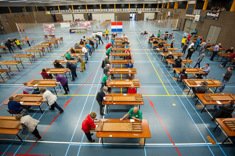 Foto: Gerrit de Heus. Barneveld. 15-04-2017. Nederlands Kampioenschap Sjoelen. NK
