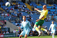 Picture by Alex Broadway/Focus Images Ltd.  07905 628187.30/7/11.Steve Morison of Norwich City scores during a pre season friendly at The Ricoh Arena, Coventry.