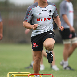 Tuesday 12th October 2010 in Durban, South Africa.Patrick Lambie<br /> is pictured during the Sharks training session at the Absa Stadium on Tuesday 12th October 2010 in Durban, South Africa. . Photo by Steve Haag / Gallo Images