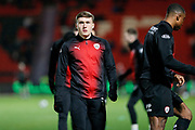 Cameron McGeehan of Barnsley F.C. warms up for the EFL Sky Bet League 1 match between Doncaster Rovers and Barnsley at the Keepmoat Stadium, Doncaster, England on 15 March 2019.
