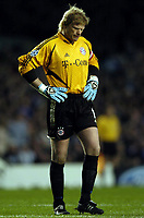 Fotball<br /> Champions League 2004/05<br /> Chelsea v Bayern München<br /> 6. april 2005<br /> Foto: Digitalsport<br /> NORWAY ONLY<br /> Oliver Kahn looks upset after being beaten by Joe Cole