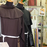 ASSISI, ITALY - OCTOBER 03:  Clergy outfits are for sale in a shop on October 3, 2013 in Assisi, Italy. Pope Francis is due to venerate the tomb of San Francesco of Assisi tomorrow during his one-day visit to the city.  (Photo by Marco Secchi/Getty Images)