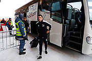 OSTERSUND, SWEDEN - MARCH 17: Behrang Safari of Malmo FF arrives prior to the the Swedish Cup Semifinal between Ostersunds FK and Malmo FF at Jamtkraft Arena on March 17, 2018 in Ostersund, Sweden. Photo: Nils Petter Nilsson/Ombrello ***BETALBILD***