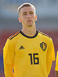 WREXHAM, WALES - Friday, September 6, 2019: Belgium's Alexis Saelemaekers lines-up before the UEFA Under-21 Championship Italy 2019 Qualifying Group 9 match between Wales and Belgium at the Racecourse Ground. (Pic by Laura Malkin/Propaganda)