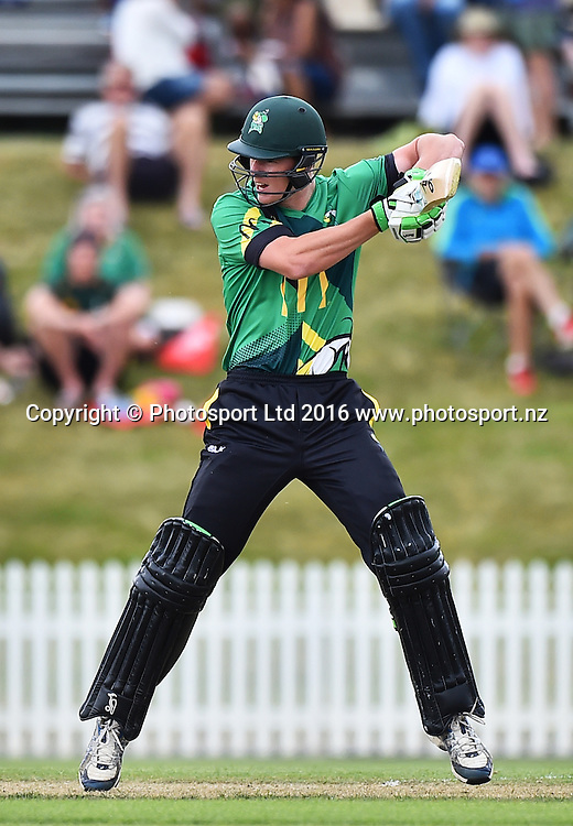 Stags player Josh Clarkson during their McDonalds Super Smash T20 match Central Stags v Wellington Firebirds. Saxton Oval, Nelson, New Zealand. Sunday 18 December 2016. ©Copyright Photo: Chris Symes / www.photosport.nz