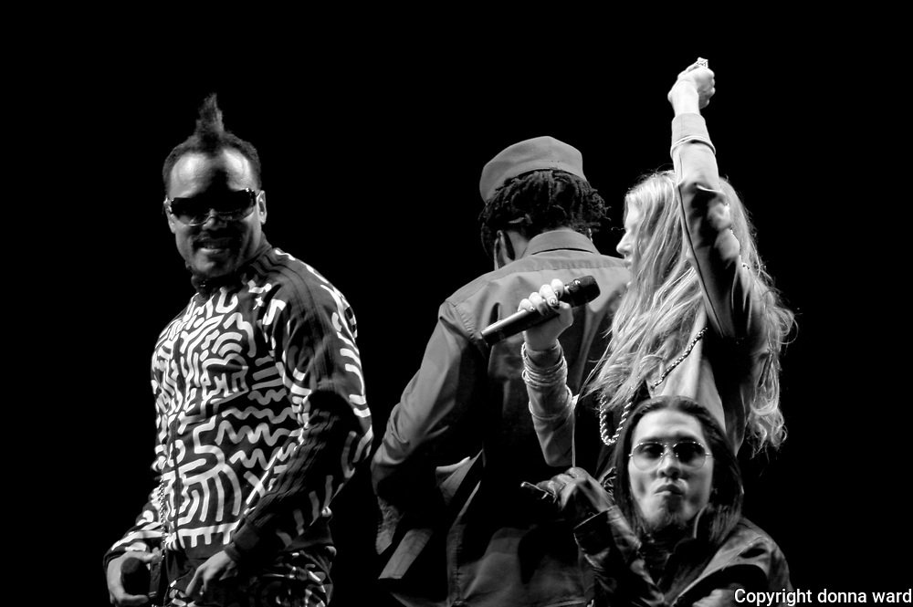 The Black Eyed Peas perform at the Nikon at Jones Beach Marine Theatre Friday, August 25, 2006 on Long Island in New York.