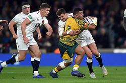 Tolu Latu of Australia is tackled by Henry Slade of England - Mandatory byline: Patrick Khachfe/JMP - 07966 386802 - 24/11/2018 - RUGBY UNION - Twickenham Stadium - London, England - England v Australia - Quilter International