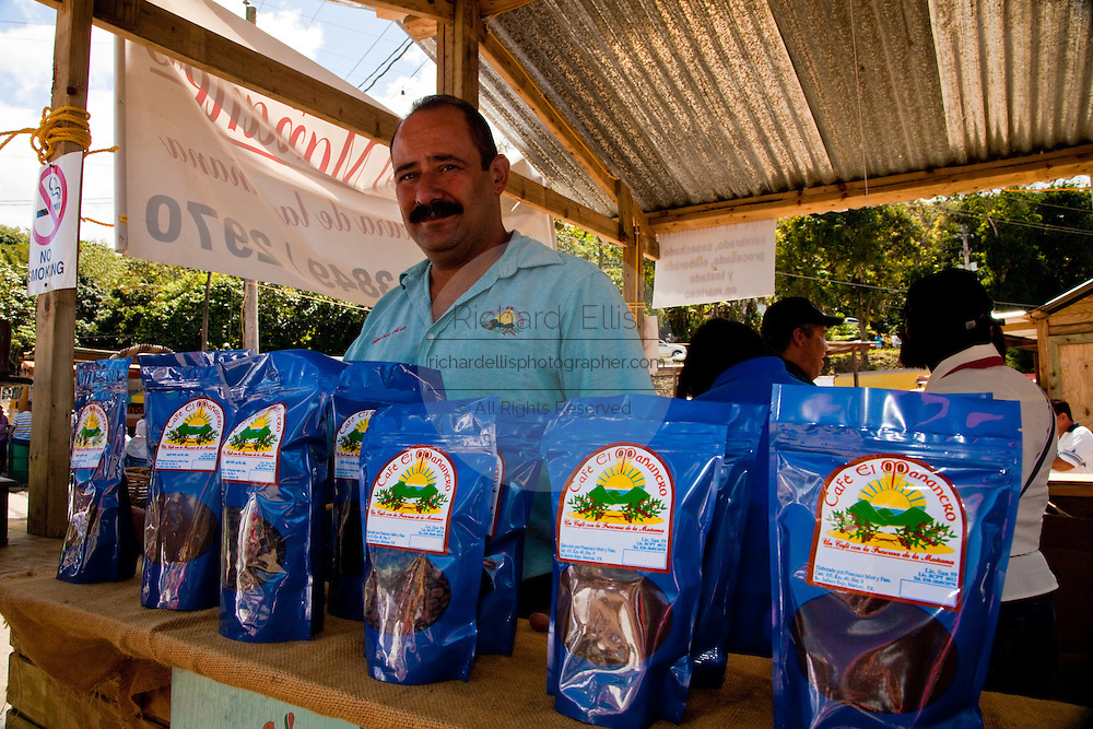 Small batch locally produced coffee at the Maricao Coffee Festival in Puerto Rico.