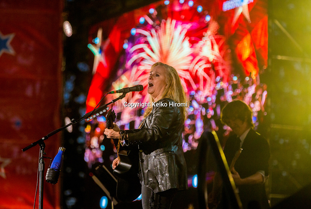 July 3, 2017, Esplanade, Boston, Massachusetts, USA: Melissa Etheridge performing during a rehearsal concert for the annual Boston Pops Fireworks Spectacular on the Esplanade in Boston.