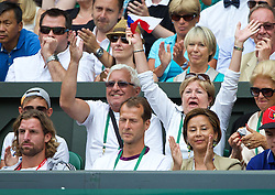 LONDON, ENGLAND - Thursday, June 26, 2014: Lukas Rosol's grandparents during the Gentlemen's Singles 2nd Round match on day four of the Wimbledon Lawn Tennis Championships at the All England Lawn Tennis and Croquet Club. (Pic by David Rawcliffe/Propaganda)