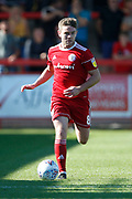 Sam Finley of Accrington during the EFL Sky Bet League 1 match between Accrington Stanley and Blackpool at the Fraser Eagle Stadium, Accrington, England on 21 September 2019.