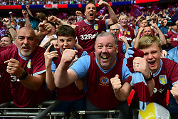 May 27, 2019 - London, England, United Kingdom - Aston Villa supporters celebrate during the Sky Bet Championship match between Aston Villa and Derby County at Wembley Stadium, London on Monday 27th May 2019. (Credit: Jon Hobley | MI News) (Credit Image: © Mi News/NurPhoto via ZUMA Press)