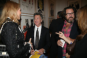 The Begum Inaara Aga Khan, Dustin Hofman and Julian Schnabel, Georg Baselitz, Royal Academy. 18 September 2007. -DO NOT ARCHIVE-© Copyright Photograph by Dafydd Jones. 248 Clapham Rd. London SW9 0PZ. Tel 0207 820 0771. www.dafjones.com.