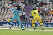 Roy smashes a boundary during the ICC Cricket World Cup 2019 warm up match between England and Australia at the Ageas Bowl, Southampton, United Kingdom on 25 May 2019.