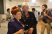 LADY SANDRA BATES; SEAN MCGUIGAN Lady  Sandra Bates and Jason Bradbury host 'Lust' a mixed exhibition. La Galleria. Pall Mall.  London 3 September 2013.