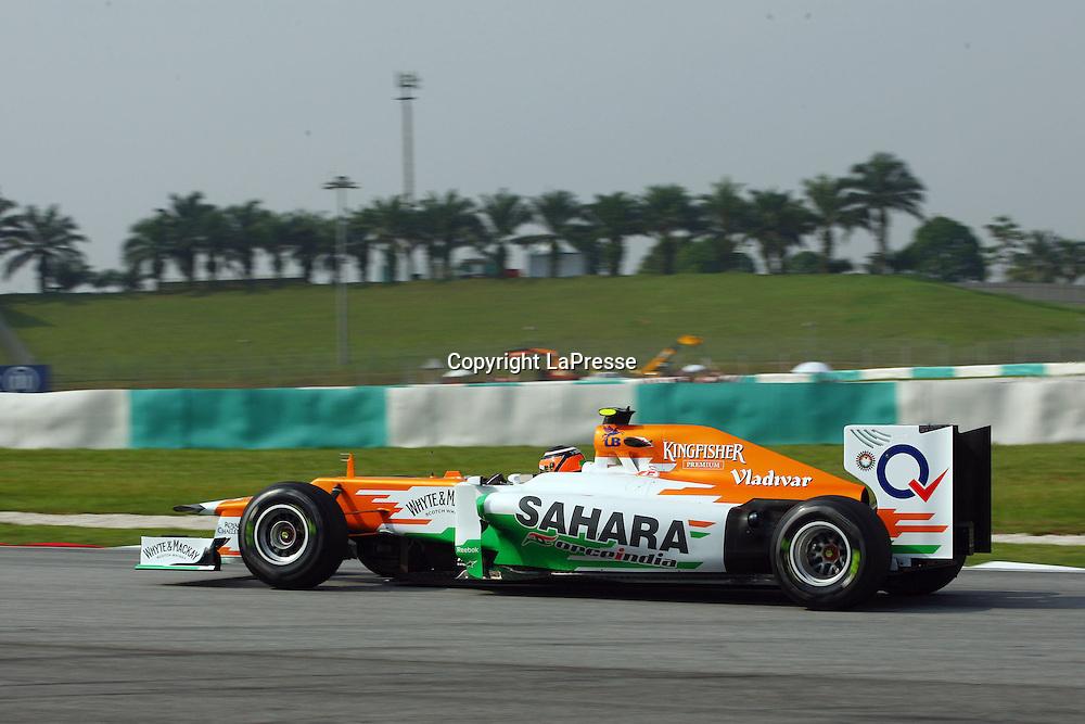&copy; Photo4 / LaPresse<br /> 23/3/2012 Sepang<br /> Malaysian Grand Prix, Sepang 2012<br /> In the pic: Nico H&uuml;lkenberg (GER), Force India F1 Team, VJM05