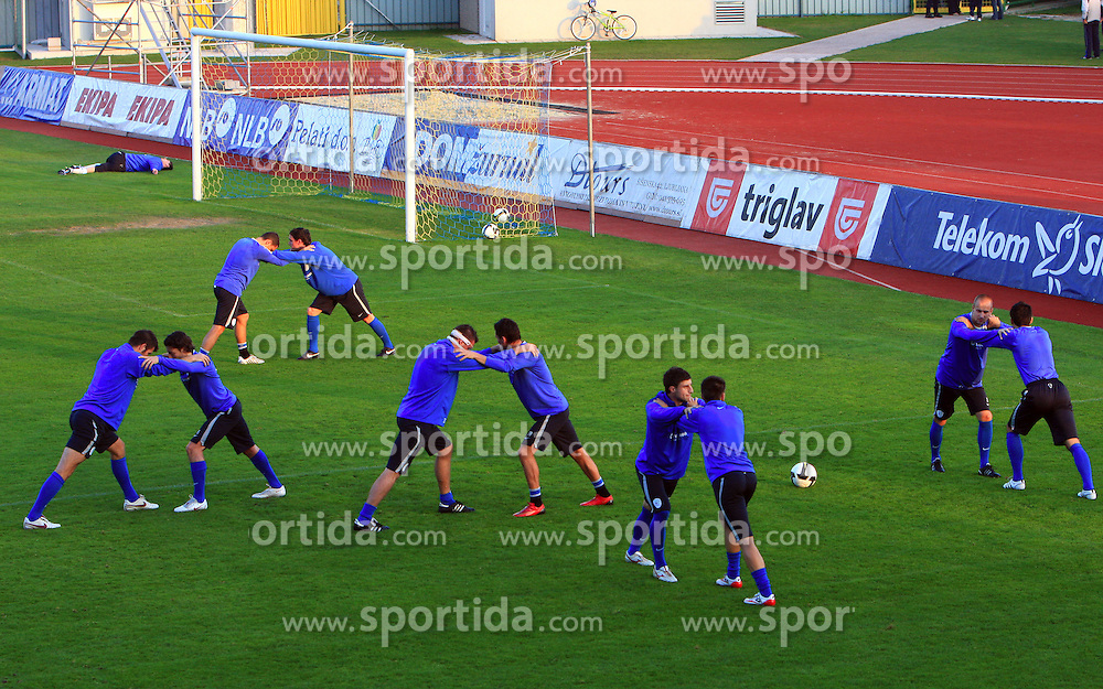 Exercises at practice of Slovenian men National team, on October 13, 2008, in Domzale, Slovenia.  (Photo by Vid Ponikvar / Sportal Images)