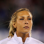 Allie Long, USA, during team National Anthems before the USA Vs Colombia, Women's International friendly football match at the Pratt & Whitney Stadium, East Hartford, Connecticut, USA. 6th April 2016. Photo Tim Clayton