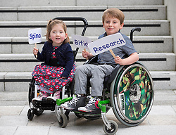 Repro Free: 03/09/2014<br /> Lara Bayliss (3) from Bray Co Wicklow is pictured with Sean Nelson (6) from Sallins Co Kildare pictured at the launch of the Temple Street national Spina Bifida services research report. This report shows the gross under-resourcing of services for children with Spina Bifida both in Temple Street and across the country. These children have extremely complex needs but the research showed that 54% of them do not have access to a multidisciplinary team (MDT) clinic despite the fact that 69% of children with SB over three years use a wheelchair, 93% of them over five years require continence support and 64% of them have a VP shunt to manage hydrocephalus. Picture Andres Poveda