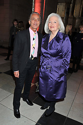 DAVID SASSOON and ANNE TYRRELL at a private view of Ballgowns: British Glamour Since 1950 at the V&A museum, London on 15th May 2012.