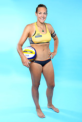 07.06.2016, Hamburg, GER, DVV Beachvolleyball, Fototermin, Nationalmannschaft, Olympische Spiele, Rio 2016, im Bild Victoria Bieneck (GER) // Victoria Bieneck of Germany during photocall of German Beach Volleyball team of German Cycling Federation for the Olympic games, Rio 2016. Hamburg, Germany on 2016/06/07. EXPA Pictures © 2016, PhotoCredit: EXPA/ Eibner-Pressefoto<br /> <br /> *****ATTENTION - OUT of GER*****