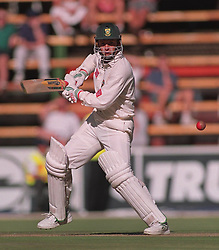 South Africa's Gary Kirsten on the way to his maiden Test century