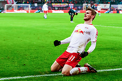 LEIPZIG, Dec. 17, 2018  Timo Werner of Leipzig celebrates his scoring during the Bundesliga match between RB Leipzig and FSV Mainz 05 in Leipzig, Germany, Dec. 16, 2018. Leipzig won 4-1. (Credit Image: © Kevin Voigt/Xinhua via ZUMA Wire)