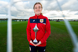 Sophie Baggaley receives her Player of the Month award for September 2018 - Ryan Hiscott/JMP - 19/11/2018 - SPORT - SGS College Filton - Bristol, England - Sophie Baggaley receives her Player of the Month award for September 2018