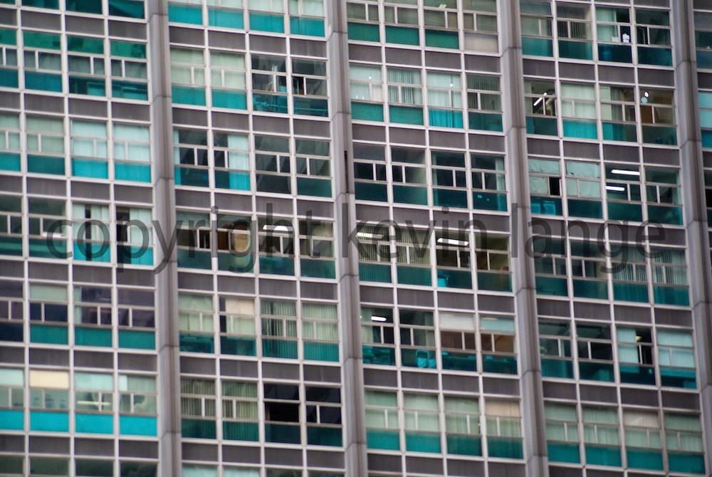 exterior building architecture detail reveals urban color and design in rio de janeiro, brazil.