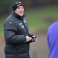 St Johnstone Training....17.01.14<br /> Manager Tommy Wright pictured in training this morning ahead of tomorrow's game against Hearts.<br /> Picture by Graeme Hart.<br /> Copyright Perthshire Picture Agency<br /> Tel: 01738 623350  Mobile: 07990 594431