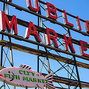 Public market sign at Pike Place Market
