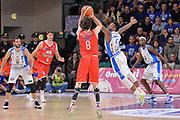 DESCRIZIONE : Campionato 2015/16 Serie A Beko Dinamo Banco di Sardegna Sassari - Grissin Bon Reggio Emilia<br /> GIOCATORE : Amedeo Della Valle<br /> CATEGORIA : Tiro Tre Punti Three Point Controcampo Ritardo<br /> SQUADRA : Grissin Bon Reggio Emilia<br /> EVENTO : LegaBasket Serie A Beko 2015/2016<br /> GARA : Dinamo Banco di Sardegna Sassari - Grissin Bon Reggio Emilia<br /> DATA : 23/12/2015<br /> SPORT : Pallacanestro <br /> AUTORE : Agenzia Ciamillo-Castoria/L.Canu