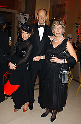 Left to right, The MARCHIONESS OF LONDONDERRY, DAVID METCALFE and CAROLYN BENSON at A Riot - 1930's evening in aid of Great Ormand Street Hospital held at Claridge's, Brook Street, London on 31st January 2006.<br />