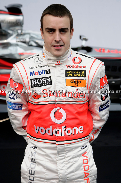 Fernando ALONSO, Spanien, Spain, - F1 Team McLaren-Mercedes 2007 Formula 1 -  Formel 1 Teamvorstellung PHOTO: © ATP Mercedes