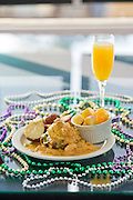 Eggs Pontchartrain and a Mimosa at Cafe Rue Orelans in Fayetteville, Arkansas.