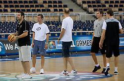 Assistant coach of Slovenia Stefanos Dedas, Miro Alilovic, Jure Zdovc and Tomo Mahoric  in Arena Lodz, Hala Sportowa, Lodz, Poland.  (Photo by Vid Ponikvar / Sportida)