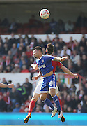 Brentford defender Nico Yennaris during the Sky Bet Championship match between Nottingham Forest and Brentford at the City Ground, Nottingham, England on 2 April 2016. Photo by Chris Wynne.