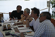 Judges meeting on the floating restaurant. Preparing for the Le Prince Maurice Prize. Mauritius. 27 May 2006. ONE TIME USE ONLY - DO NOT ARCHIVE  © Copyright Photograph by Dafydd Jones 66 Stockwell Park Rd. London SW9 0DA Tel 020 7733 0108 www.dafjones.com