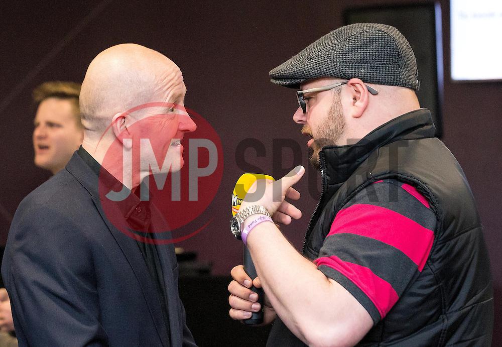 Eddie 'The Eagle' Edwards talks to SamFM - Mandatory by-line: Robbie Stephenson/JMP - 29/04/2016 - FOOTBALL - Ashton Gate - Bristol, England - Bristol Sport Big Sports Breakfast Eddie The Eagle