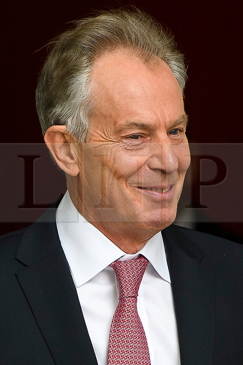 © London News Pictures. 29/05/2016. London, UK. Former British prime minister TONY BLAIR leaves BBC Broadcasting House in London after pre-recording an appearance on the Andrew Marr show. . Photo credit: Ben Cawthra/LNP