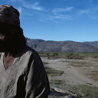 Haiti, Mirebalais, Portrait of elderly woman in deforested central highlands