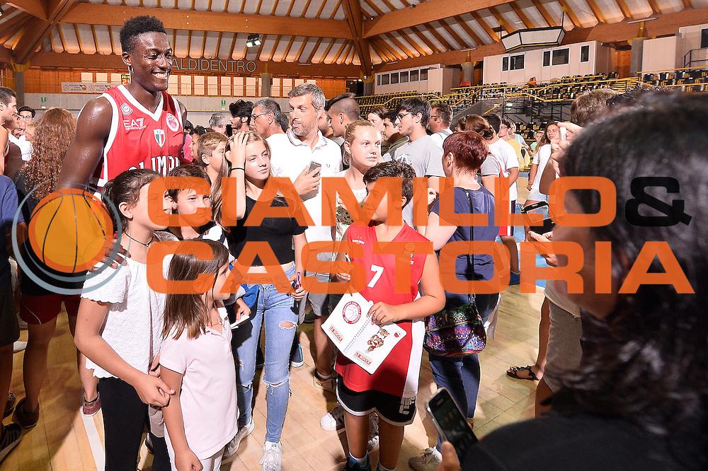 Awudu Abass <br /> EA7 Emporio Armani Olimpia Milano - Legnano Knights <br /> Lega Basket Serie A 2016/2017<br /> Bormio 28/08/2016<br /> Foto Ciamillo-Castoria